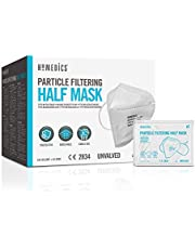 HoMedics 20 Pack, Single Use Face Masks FFP2 PPE - CE Certified, 3 Layer Filtration, Latex Free Mask