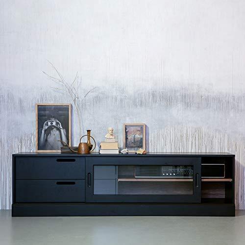 De Eekhoorn Vintage TV Möbel James 180 cm Lowboard Kommode Kiefer Massivholz schwarz