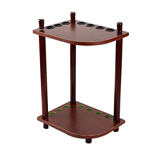 Taoke Pool Cue-Rack, Ecke Pool Cue Rack-Regal, Hält 7 Cues, mit Kunststoff-Schutzhülle passt in Fast jedem Raum Cue-Rack 8bayfa