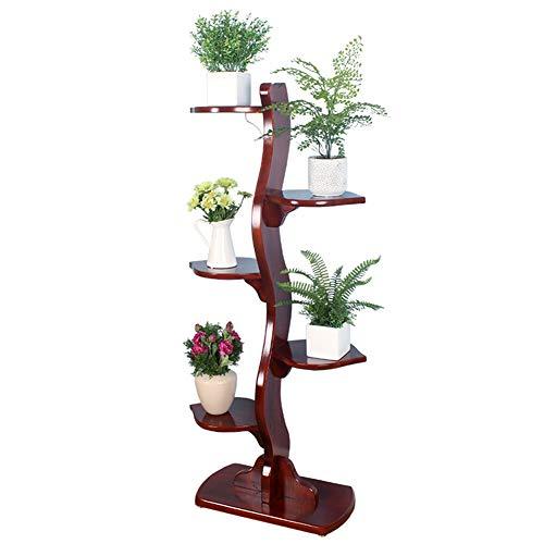 CHAOXIAN Gartenregal Blumenregal Blumen Regal Gartenregal Pflanzenständer Blatt Gestalten Palette Kiefernholz, 52x28x121cm