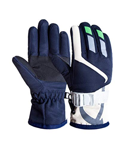 Kids Ski Gloves Winter Warm Lining Snow Cold Weather Windproof Waterproof Adjustable Gloves for Boys & Girls 2-5Years