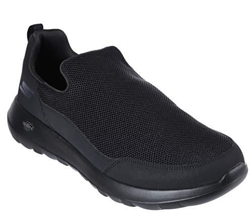 Skechers GO Walk MAX-Privy 54626, Zapatillas sin Cordones para Hombre, Negro (Black BBK), 43 EU