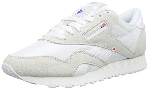 Reebok Herren Classic Nylon Low-Top, Weiß (White/Light Grey), 48.5 EU