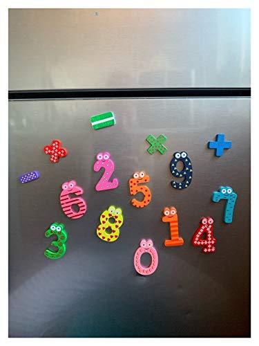 XuuSHA Regalo de Fiesta Decoración para el hogar, Multicolor de Madera imán de Nevera de Juguete Educativo símbolo Números de Alfabeto Dibujos Animados Niño bebé, Accesorios para el hogar Decorativos