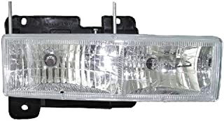 Headlight Replacement For Chevrolet Chevy/GMC C/K 10 Driver Left And Passenger Right Side Pair Set 1988 1989 1990 1991 1992 1993 1994 1995 1996 1997 1998 1999 2000 2001 2002 Headlamp Assembly