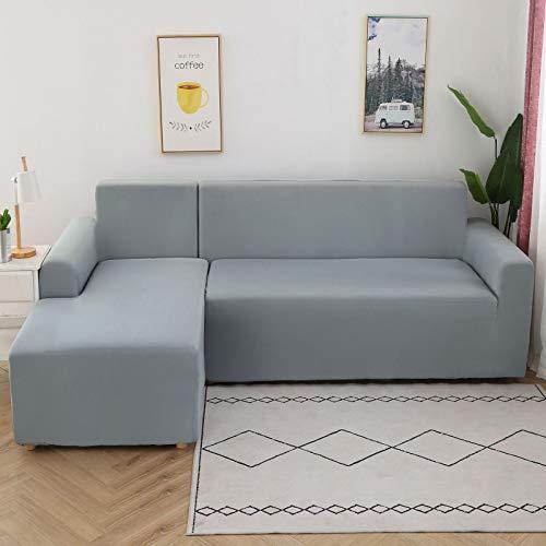 NOBCE Impresión de la Cubierta del sofá Fundas elásticas para sofá Fundas de sofá para Sala de Estar Sofá de Esquina Toalla Funda para sofá Funda para Muebles Gris 90-140CM