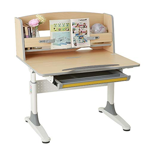 Kids Tale & Chair Set Home Desk Multi-Funktions-Schreibtisch Childen Kinder Study Table School Student Desk Buchständer HV Kindermöbel (Color : Natural, Size : One Size)