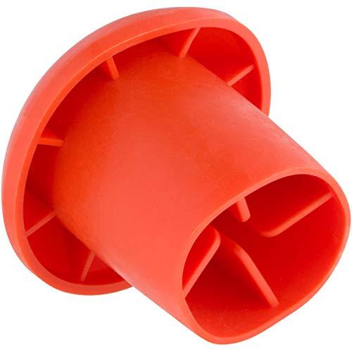 Mushroom Rebar Caps (100 Pack) Safety Orange Plastic Rebar Cap Covers - Fits Rebar Stake Size #3 - #7, 3/8