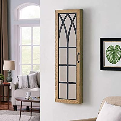 """FirsTime & Co. Rustic Arch Jewelry Armoire Accent Wall Mirror, 43"""" x 14"""" x 3.5"""", Brown"""