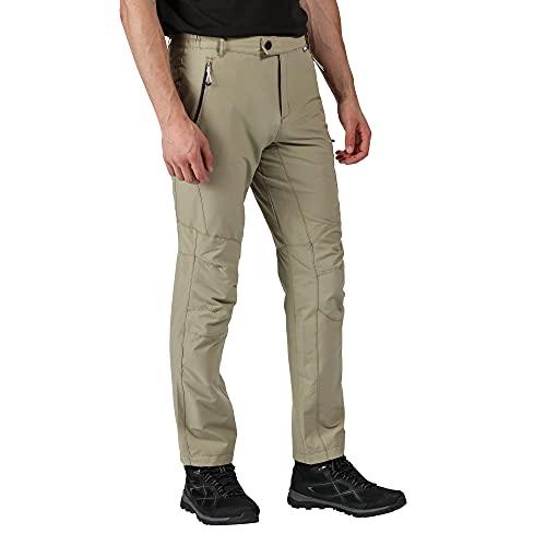 Regatta Highton Herren Wanderhose mit Mehreren Taschen, wasserabweisend 36 W / 32 L pargament