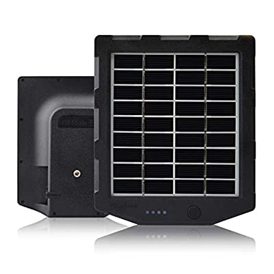 Trail Camera Solar Panel, WingHome Solar Battery Charger Kit 12V/1A 6V/1.5A with Build-in 2000mAH Rechargeable Lithium Battery IP66 Waterproof Hunting Accessory
