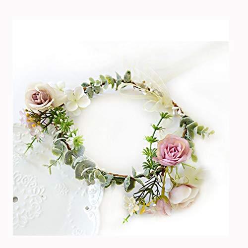 LYM Fleurs Fleurs Couronne Bandeau Corolla Mariage Festival Accessoires (Couleur : A)