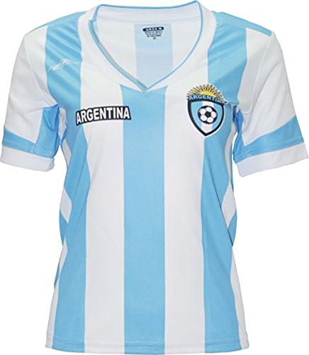 Argentina New Arza Women Jersey Blue White 100% Polyester (Medium)