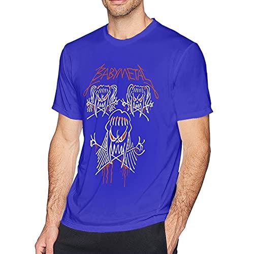 Babymetal T Shirt Blue 5XL Men T-Shirt aus Baumwolle für Herren Kurzarm Männer Tshirt Rundhalsausschnitt