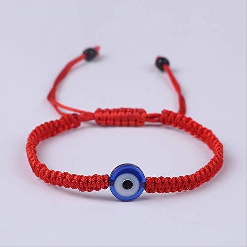 Nobrand Pulsera De Cadena Roja Trenzada Hecha A Mano para Mujer Lucky Thread Rope Mal De Ojo Pulsera Femme Jewelry Gift