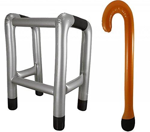 Aufblasbar Laufgestell Rahmen und Gehstock Zum Aufblasen Spielzeug Neuheit Gagwitz Verkleiden - Laufgestell Rahmen & Gehstock, One Size