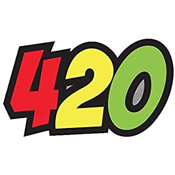 420 Rasta Marijuana Leaf Buds Sticker Self Adhesive Vinyl weed pot