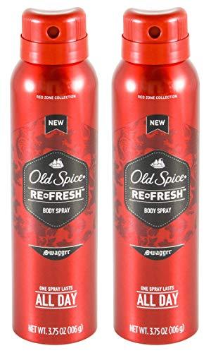 Old Spice re-fresh Body Spray, Swagger 3,75oz (Pack von 2)