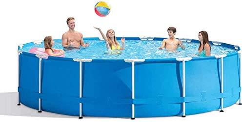 XLBHSH 305×76 cm Round Frame Swimming Pool Metal Frame Pool Above Ground Pool Pond Family Swimming Pool Metal Frame Structure Pool Leisure