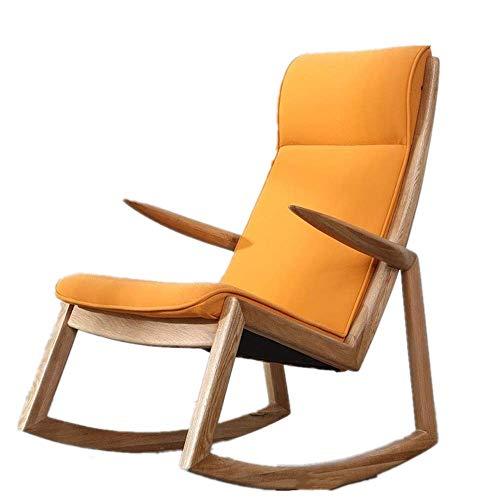 NBVCX Möbeldekoration Bequemer Loungesessel Einzelner Freizeitstuhl Leinen Schaukelstuhl für Erwachsene Kaffee Western Restaurant Stuhl Relax Schaukelstuhl (Farbe: Foto Farbe Größe: M)