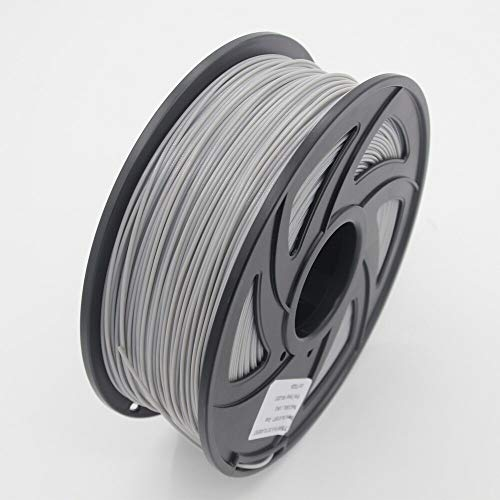 Auartmetion 1pc 3D-Drucker 1KG 1.75mm PLA Filament Druckmaterialien bunt for 3D-Drucker Extruder Pen Regenbogen Kunststoff Zubehör Rot Grau (Farbe : Grey)