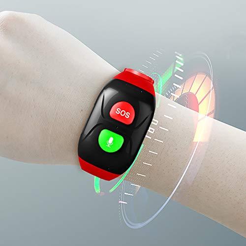 NXW Reloj De Posicionamiento GPS para Ancianos Detector De Presión Arterial De Frecuencia Cardíaca, IP67 A Prueba De Agua, Función De Llamada De Soporte, Ayuda con Un Solo Clic De SOS