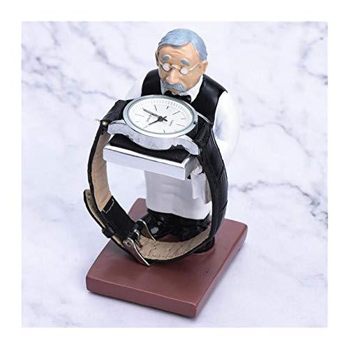 Creative Resin Watch Stand Novedad Sculpture Watch Cajas de Almacenamiento Caja de Moda Mostrar Caja Joyería Regalo Organizador (Color : Style-A)