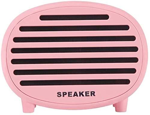 Moderno altavoz pequeño y fresco, creativo macaron mini bluetooth tarjeta altavoz-rosa