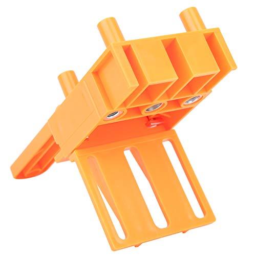 Guía de brocas para carpintería, juego de guía de carpintería, localizador de agujeros de perforación Kit de sierra de perforación 8 piezas/juego para brocas de 6/8/10 mm (naranja)