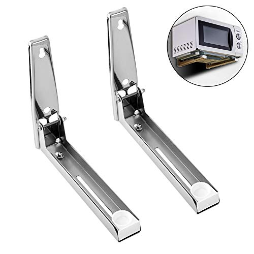 Microwave Oven Wall Mount Shelf Under Cabinet Toaster Oven Holder Stainless Steel...
