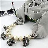 ファッションシフォンスカーフリングマルチスタイルのネックレス花のペンダントスカーフヘッドスカーフヒジャーブ1個 (Color : Style69 5)