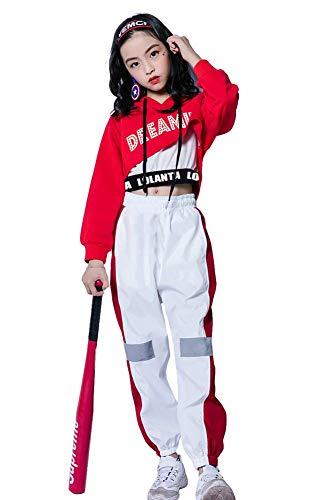 LOLANTA 3Pcs Girls Hip Hop Dance Costume Niños Street Dance Clothes Set...