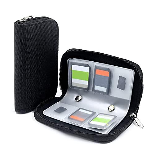 Eatbuy 2pcs Kartenhalter, 8 Seiten/22 Slots Speicherkartenhalter Nylon Handy Speicherkartentasche wasserdichte Tragetasche Media Organizer für TF SDHC MMC CF Micro TF Speicherkarte