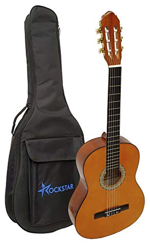 Guitarra clásica española Romanza mod DIANA 4/4 con funda 10mm calidad y precio - rockmusic
