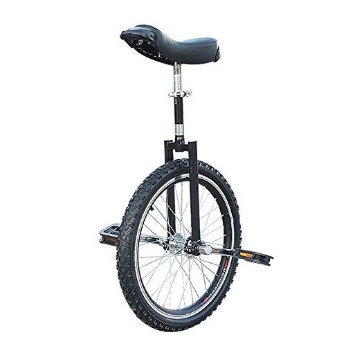 Einrad Kinder/Erwachsene/Jugendliche Im Freien Einrad, 24/20/18/16 Zoll Rad Balance Cycling, Mit Verdickter Leichtmetallfelge, 18/16/15/14/9 Jahre Altes Kind (Color : Black, Size : 20inch)