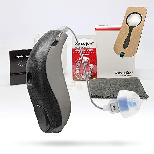 最新型 チャネルフリー デジタル 補聴器 耳かけ式 アクトスPR RICタイプ 管理医療機器認証番号:第228AIBZX00020000号 しおり型ルーペ付 (左耳用)
