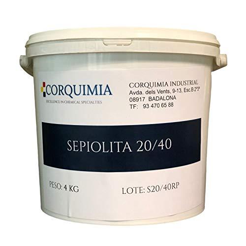 Corquimia SEPIOLITA 20/40 Absorbente DE LIQUIDOS Uso Industrial   Caja DE Gatos (4 kg)