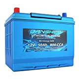 Dual Purpose Deep Cycle Lithium Marine Trolling Battery Group 34 Replaces Optima 34M 800CCA