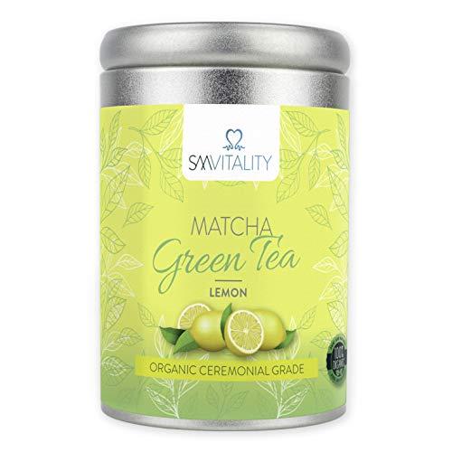 (100g) SM Vitality Té Matcha Orgánico en polvo | Té verde japonés rico en vitaminas para beber | Rico en antioxidantes, refuerza el sistema inmunológico, el metabolismo, ayuda a la pérdida de peso