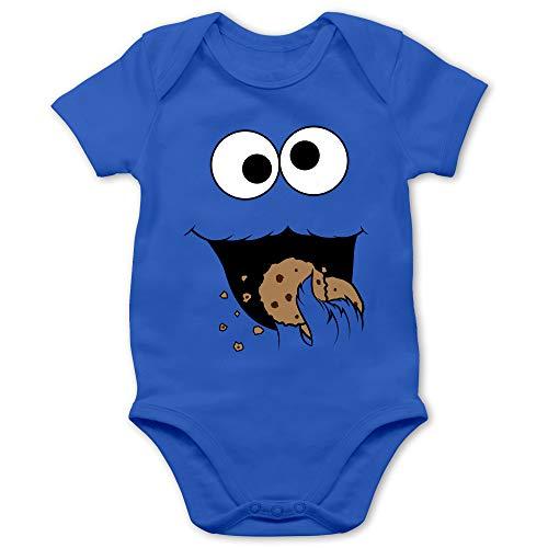 Shirtracer Karneval und Fasching Baby - Keks-Monster - 12/18 Monate - Royalblau - Fun - BZ10 - Baby Body Kurzarm für Jungen und Mädchen