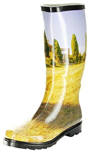 ConWay Gummistiefel gelb Regenstiefel Damen Stiefel Schuhe Toskana, Farbe:gelb, Größe:40 EU