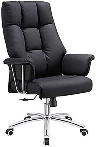 DHTOMC Chair computer chair Ergonomic Desk Chair Black Leather Multifunctional Adjustable Boss Chair, Modern Minimalist Computer Chair, Office Chair,Adjustable, Swivel Office Desk Chair with Armrests