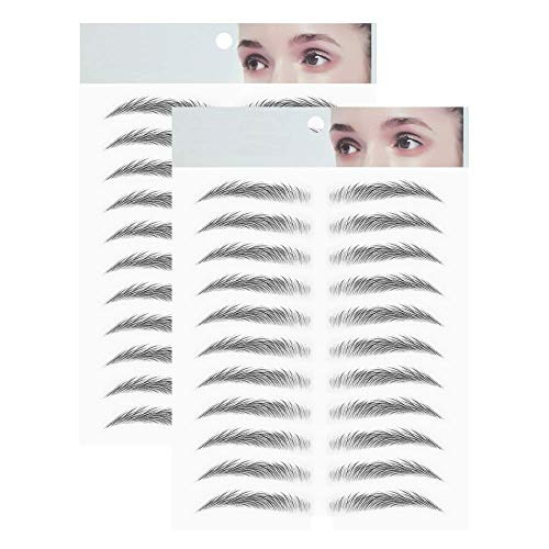 2 Pcs Magic 4D Hair-like Authentic Eyebrows Grooming Shaping Makeup Brow Shaper Brow Stickers Tattoo False Eyebrows Grooming Shaping Brow Shaper Makeup Eyebrow - E09