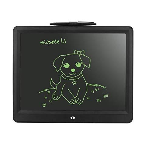 BXGZXYQ 15-Zoll-LCD-Tablet WordPad Frühkindliche Bildung Board Graphics Tablet Zeichnen mit Licht Toy Drawing Tablet Digital Board (Farbe : Schwarz)