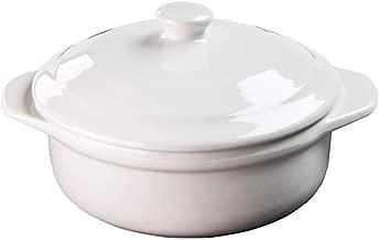 Twine 5997 Rustic Farmhouse Ceramic Brie Baker /& Acacia Wood Spreader White
