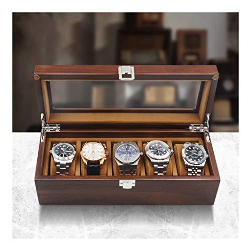 Dzwyc Présentoir à Bijoux Montre Boîte de Rangement en Bois Bijoux Organisateur Boîte Affichage Porte boîte de Rangement boîte for Watch Accessoires Affichage (Taille : Small)