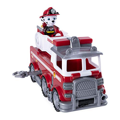 PAW Patrol 6053367 - Ultimate Rescue Basis Fahrzeug mit Figur - Marshall