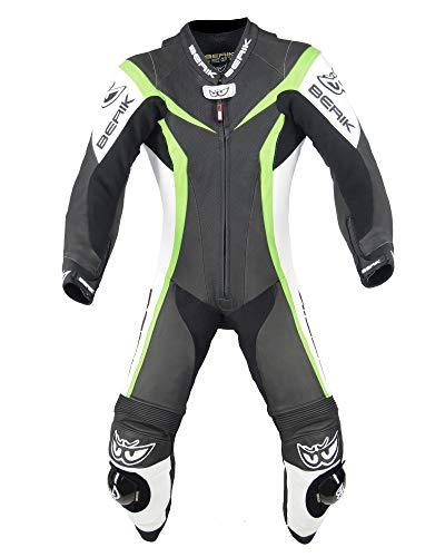Berik Biker LS1-10417-BK - Traje de piel para motocicleta de carreras