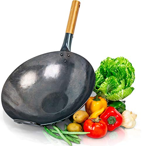 14 carbon steel flat bottom wok - 5