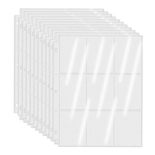 baseball card protectors WOT I Trading Card Sleeves 100 Packs 900 Pockets Baseball Card Sleeves Clear Card Protectors for Binder